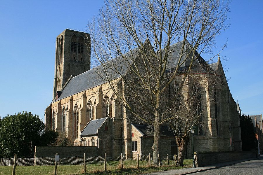 Damme (Belgium), Nave and apsis of the Church of Onze-Lieve-Vrouw-Hemelvaart (Our-Lady of the Assumption).