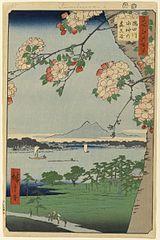 Suijin Shrine and Massaki on the Sumida River