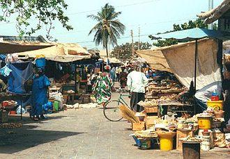 Banjul - Image: 1014046 Banjul Albert Market The Gambia