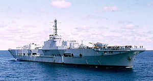 HMS Triumph (R16) - HMS Triumph as a heavy repair ship.