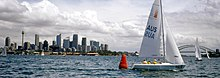 151100 - Sailing Sydney Harbour view - 3b - 2000 Sydney race photo.jpg