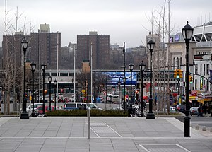 161st Street (Bronx) - Looking west down East 161st Street from the Grand Concourse