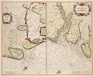Pieter Goos - Image: 1660 66 Marsdiep Mase Goos