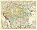 1744 map of the Balkan peninsula centered on the Kingdom of Hungary by Johann Matthias Hase.jpg