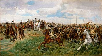 "Battle of Friedland - ""Charge of the French Cuirassiers at Friedland"" on 14 June 1807 by Ernest Meissonier, c. 1875"