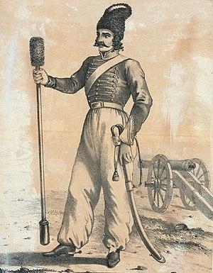 Battle of Yeghevārd - An illustration of a Persian artilleryman