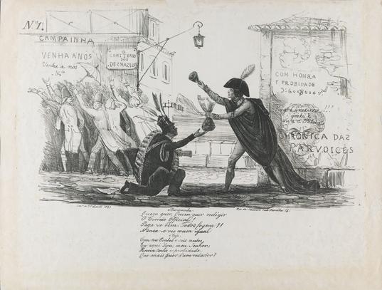 1837 first caricature in Brazil - Regency