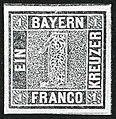 1849 1kreuzer Bayern unused Mi1 type Ia.jpg