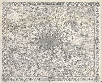 Beckton - Image: 1855 Colton Map or Plan of London, England Geographicus London c 55