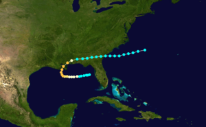 1860 Atlantic hurricane season - Image: 1860 Atlantic hurricane 1 track