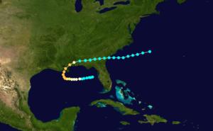 1860 Atlantic hurricane season - Image: 1860 Atlantic hurricane 1 track