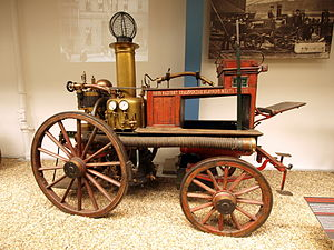 History of the Belfast Fire Brigade - 1882 Horse-drawn Shand, Mason & Co. steam fire engine circa 1868