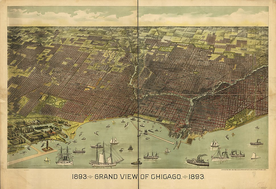 1893 Grand View of Chicago