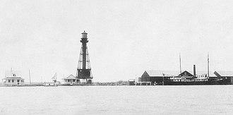 South Pass Light - Image: 1893 Photograph of South Pass