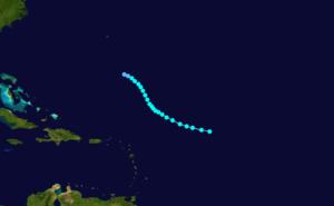 1905 Atlantic hurricane season - Image: 1905 Atlantic tropical storm 2 track