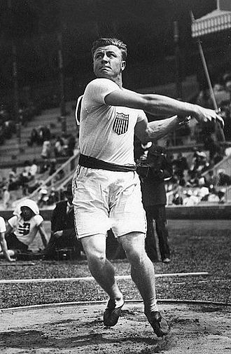Athletics at the 1912 Summer Olympics – Men's discus throw - Silver medalist Richard Byrd.