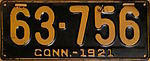 1921 Connecticut license plate.JPG