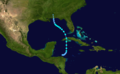 1922 Atlantic tropical storm 3 track.png