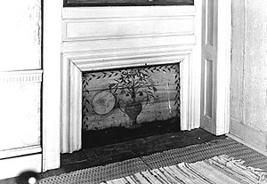 Fireboard - Image: 1936 Banister House Brookfield Massachusetts LC HABS MA345 076888pu detail