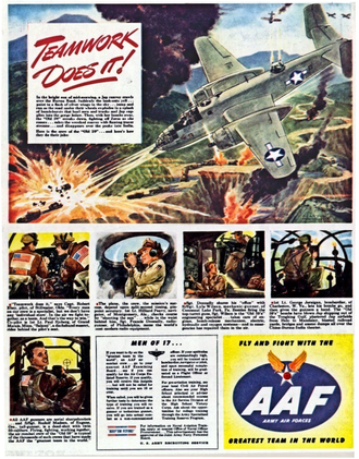 China Burma India Theater - 1944 Army Air Forces recruiting ad featuring the Fourteenth Air Force's 341st Bombardment Group (Medium)
