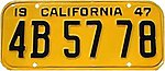 1947 California passenger license plate.jpg