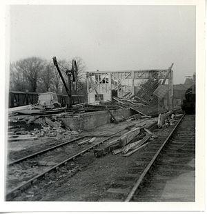 Newport (Essex) railway station - Siding demolition March 1970