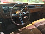 1973 AMC Ambassador Brougham sedan in beige with cinnamon and a 401 V8 at 2015 Macungie show 09.jpg