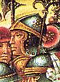 19 Raymond de Turenne (fresque de l'Ospedale Santa-Maria della Scala à Sienne) Benvenuto di Giovanni 1436-1518.jpg