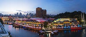 Clarke Quay - Image: 1 clarke quay singapore night 2014