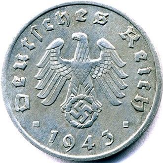 Reichsmark - Wartime zinc Reichspfennig (obverse)