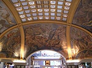 Argentine painting - Ceiling frescoes in Galerías Pacífico of Buenos Aires created in by Lino Enea Spilimbergo, Demetrio Urruchúa, Antonio Berni, Juan Carlos Castagnino y Manuel Colmeiro Guimarás.