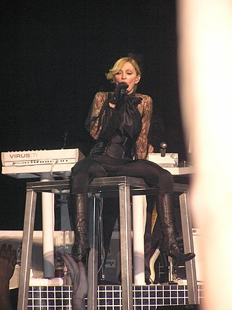 "Confessions on a Dance Floor - Madonna performing ""Jump"" on the Confessions Tour. The song, which talks about self-empowerment, was released as the fourth single from the album."