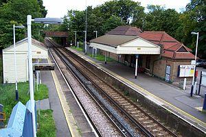 North Downs Line - Wanborough railway station