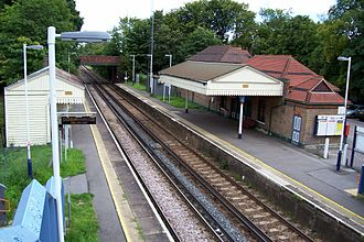 North Downs Line - Wanborough railway station