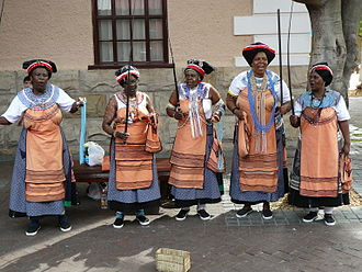 Shweshwe clothing 2008-02-09 Xhosa women.jpg