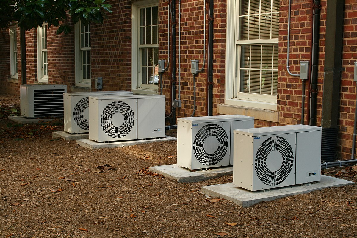 Air conditioning on small window units that heat and cool