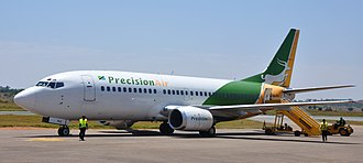 Precision Air - The Precision Air's Boeing 737-300 at the Mwanza Airport in the year 2010