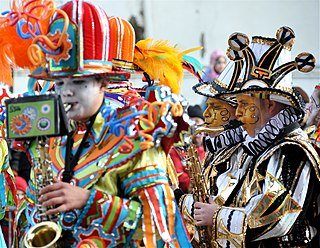 Mummers Parade Parade held each New Years Day in Philadelphia, Pennsylvania