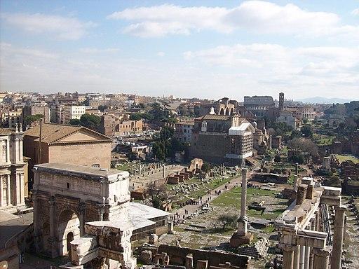 Foro Romano da Palazzo Senatorio (Fonte: Wikipedia)