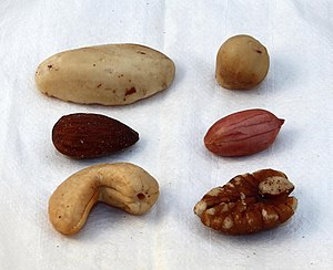 Mixed nuts - A typical assortment of mixed nuts