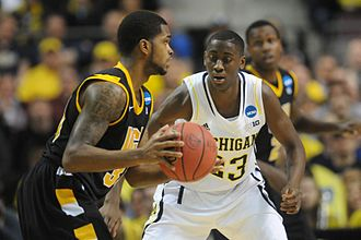 Caris LeVert - LeVert defending against VCU in the 2013 NCAA Basketball Tournament