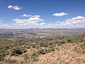 "2014-06-13 12 33 16 View north-northwest from the summit of ""E"" Mountain in the Elko Hills of Nevada.JPG"