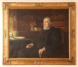Wilhelm Raabe - Painting by Wilhelm Immelkamp, 1909