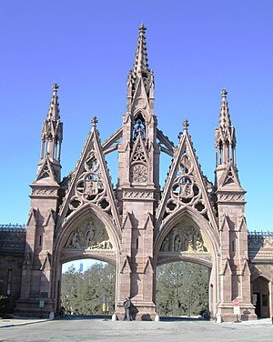 Green-Wood Cemetery - Image: 2015 Green Wood Cemetery Gate from inside