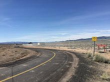 2016-03-20 09 56 16 View of the entrance to the Lincoln County Airport in Panaca, Nevada from the west end of Nevada State Route 816 (Airport Road).jpg