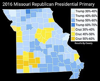 2016 United States presidential election in Missouri - Image: 2016Missouri Republican Presidential Primary