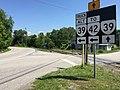 2017-06-11 11 13 46 View west along Virginia State Route 39 Alternate at Virginia State Route 39 (Maury River Road) in Goshen, Rockbridge County, Virginia.jpg