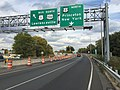 2017-10-06 15 05 25 View north along U.S. Route 1 (Trenton Freeway) at the exit for U.S. Route 1 Business and U.S. Route 206 NORTH (Lawrenceville) in Trenton City, Mercer County, New Jersey.jpg