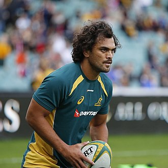 Karmichael Hunt - Hunt training for the Wallabies against Scotland