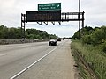 2019-05-22 14 17 12 View west along U.S. Route 50 (New York Avenue) at the exit for Fort Lincoln Drive and South Dakota Avenue in Washington, D.C..jpg
